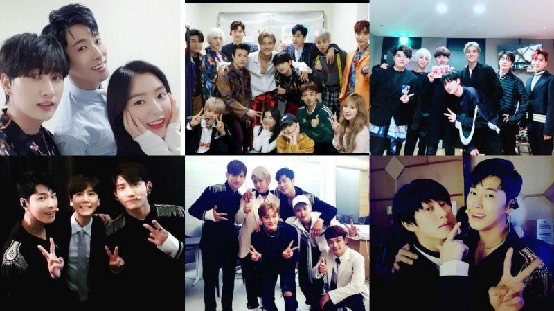 东方神起、SJ、EXO-CBX齐打歌!希澈、圭贤、Red Velvet和NCT来探班