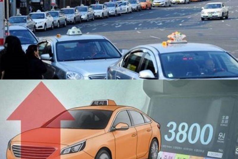 注意!2月16日開始韓國計程車起跳價正式調漲成3800韓元