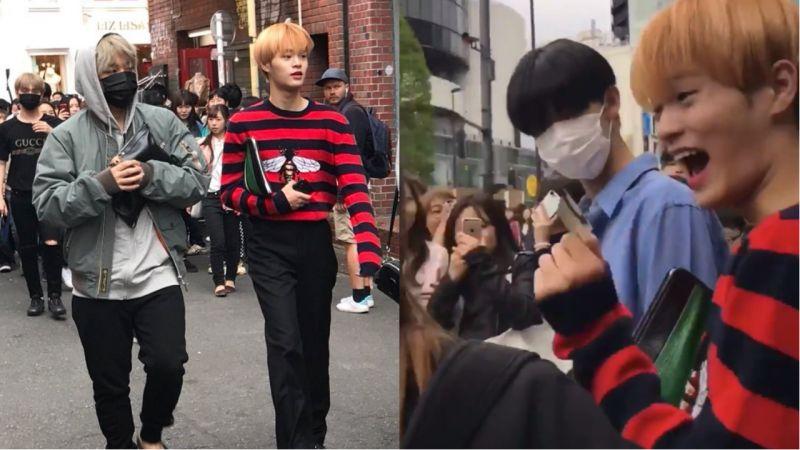 在日本街頭被星探看中的愛豆,時尚雜誌社的職員遞了名片給他!