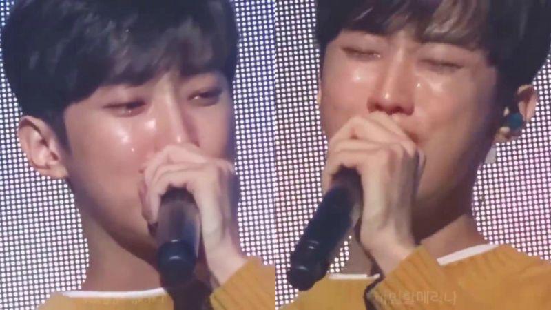 振永深切感激粉絲!在見面會演唱途中潸然落淚~T^T