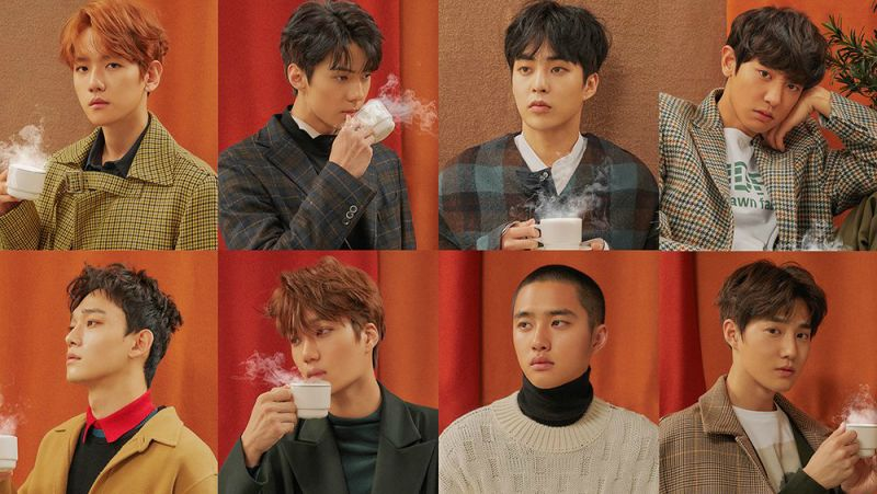 音源、唱片成績都亮眼 EXO 未宣傳仍蟬聯《Music Bank》雙週冠軍!