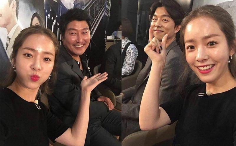 《密探》試映會後 韓志旼與宋康昊、孔侑逗趣合照