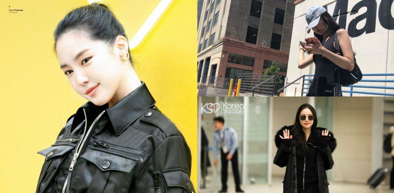 Apink孫娜恩的黑色時尚系列:機場也可以成為畫報拍攝現場