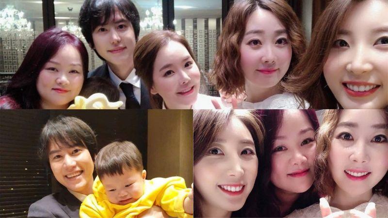 曾出現在《新西遊記7》裡的雙胞胎姪子1歲啦!圭賢與SJ姐姐們齊聚一堂