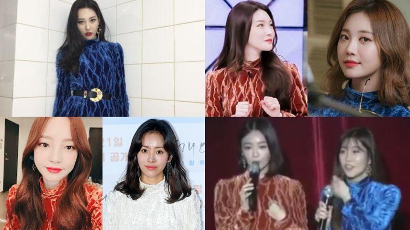女星们都曾穿过同款连衣裙~橙、蓝、白各显妖娆魅力