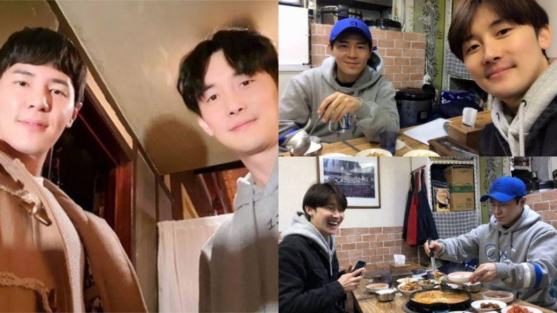 《機智牢房生活》漢陽和志遠一起去吃部隊鍋啦!李奎炯還寫著:花了好久的時間!