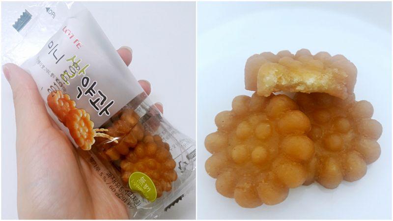 韓國傳統點心:藥果~只有蜂蜜香沒有藥味,到韓國記得嚐嚐看唷!