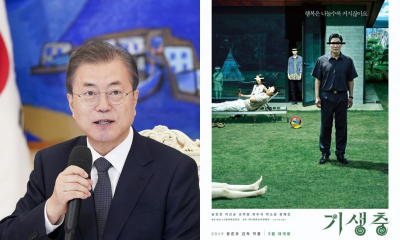 韩国之光!总统文在寅PO文祝贺《寄生上流》获奖