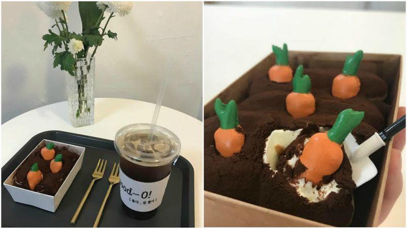 【水源cafe】在提拉米蘇田裡拔蘿蔔、採蘑菇~水源超可愛甜點咖啡廳♥