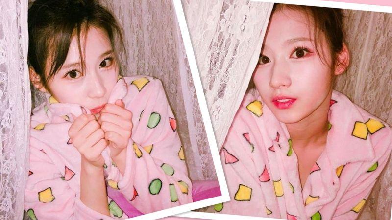 TWICE Sana生日快樂!穿著粉紅睡衣來賣萌了~