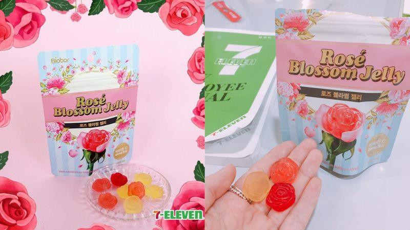韩国7-11又推出新的软糖啦!这次是充满少女心的「玫瑰软糖」啊!