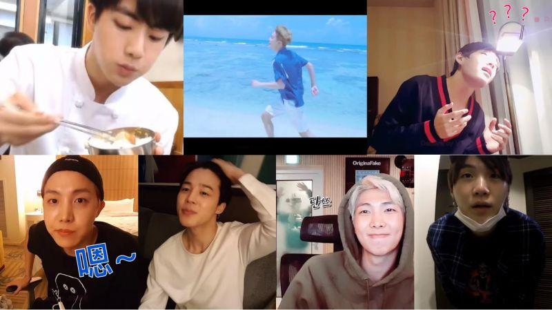 【網友剪輯影片】如果給BTS防彈少年團每人一台DV後拍出來的畫面是…
