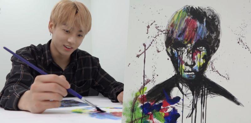 BTS防彈少年團柾國現場作畫! 堪比專業實力驚人