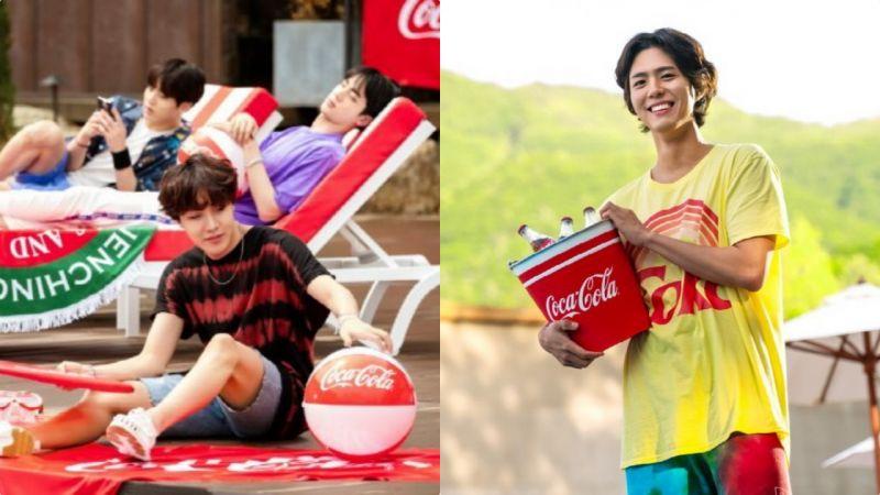 「好想跟他们一起去度假啊!」BTS&朴宝剑的可乐广告花絮写真清凉公开