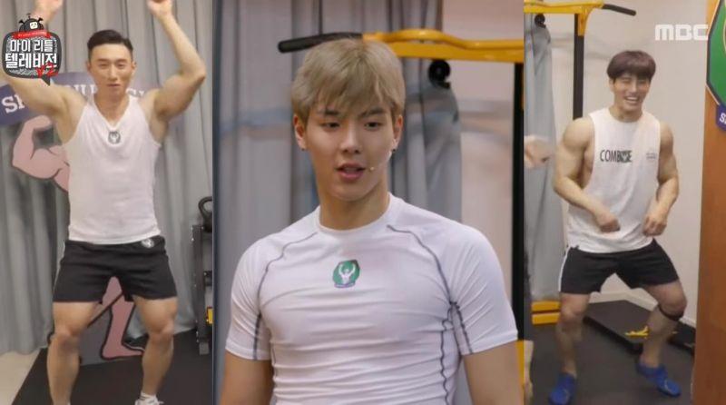 野獸偶像Shownu傳授肌肉男們開場舞,「快速抖胸」的舞蹈動作讓人看了好害羞啊~!