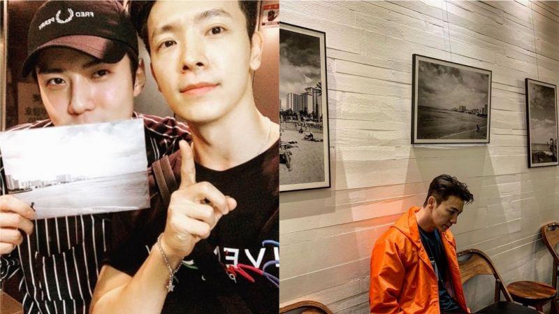SJ東海SNS分享與EXO世勳的合照:「中秋假期的最後一天也要過得開心!」