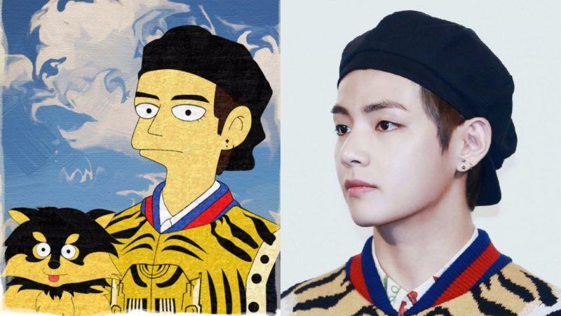BTS防弹少年团V请求粉丝画「V版Simpson」,令粉丝展开Fan Art大秀,更引出原画家发推!
