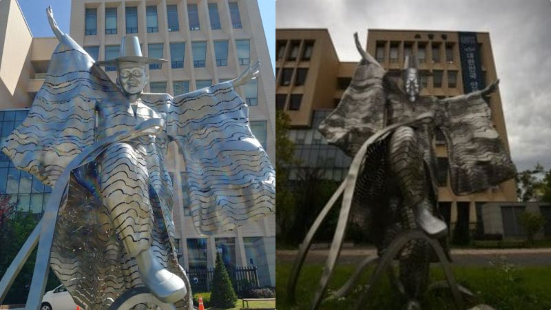 雕塑家审美有问题还是民众不懂艺术?5年换了3个地方的雕塑:感觉要被他摄去魂魄