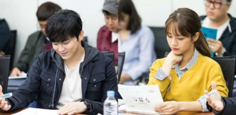 曹政奭、惠利主演MBC新剧《Two Cops》读剧本现场公开