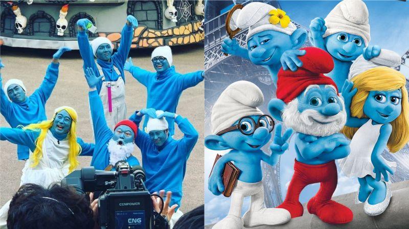 《新西遊記7》成員們變身為「藍色小精靈」!還原度百分之百 殷志源連表情都完美COS