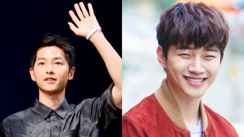 宋仲基为JTBC《只是相爱的关系》剧组送上零食车  应援好友李俊昊