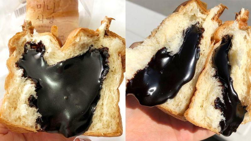 韩国便利店新品「爆浆巧克力面包」的光泽让人垂涎三尺啊!
