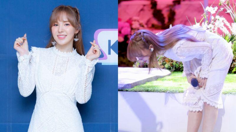 时隔一年半回到SBS表演Wendy的态度!网友:「低头的人应该不是Wendy啊,他人真的太善良了」