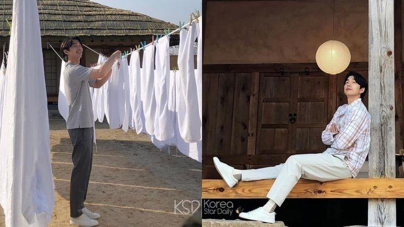 連曬個衣服都好帥!官方公開孔劉「男友風」拍攝廣告的現場花絮照