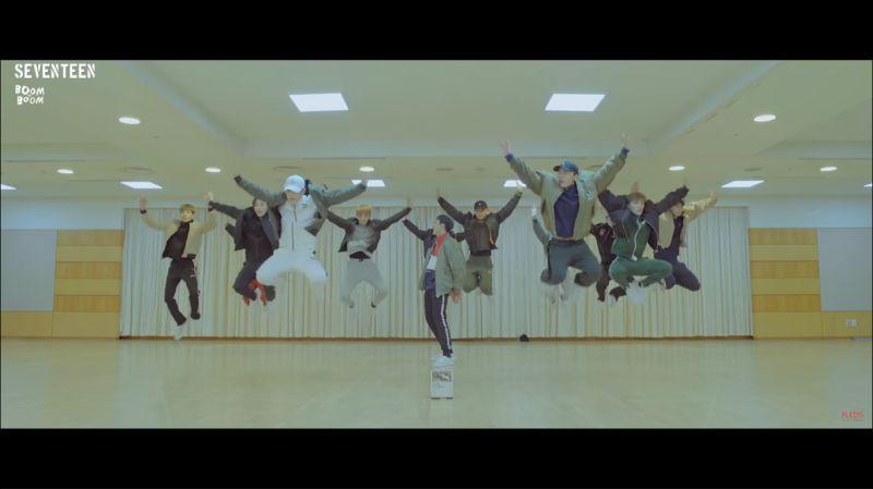 SEVENTEEN《BOOM BOOM》背影舞蹈版秒殺粉絲