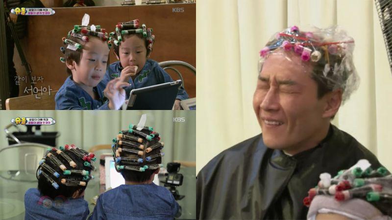 書言書俊第一次燙捲髮!選擇宋仲基髮型的他們,爸爸李輝宰看到卻大爆笑?