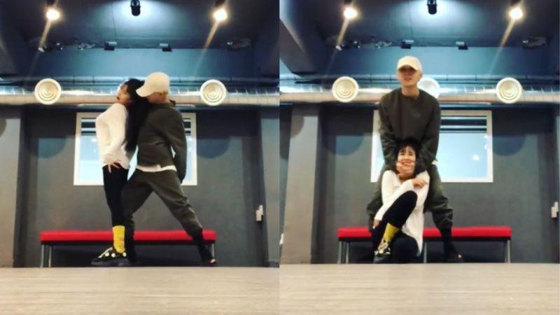 泫雅和E'Dawn再度公开双人舞练习影片!性感又帅气...最后捧脸真的太甜啦!