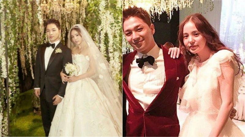 介紹一下在太陽閔孝琳的婚禮上,新娘的兩件婚紗吧!