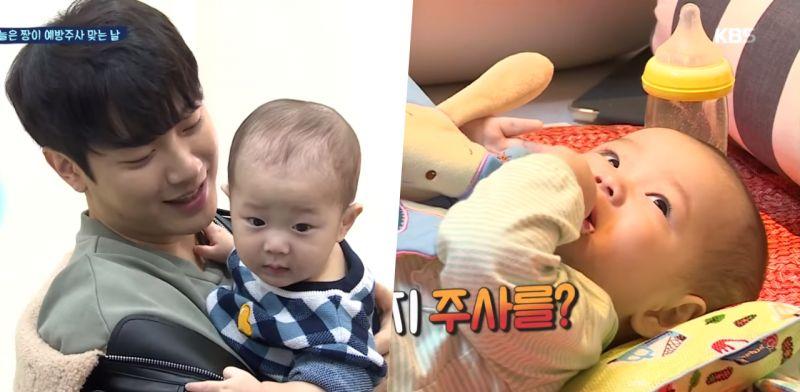 《做家務的男人們2》崔敏煥&律喜育兒日常也太甜! 寶寶打針「哭5秒就停」超乖