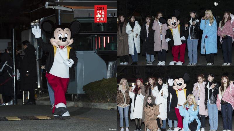 「超級大前輩」米奇和宇宙少女《音樂銀行》上班路!拍照時還站在C位,真的太可愛啦!