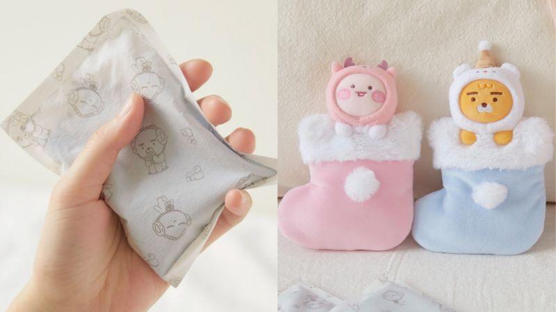 韓國的天氣越來越冷!貼心的「Kakao Friends」也來溫暖大家,推出暖暖包、裝暖暖包的小袋!