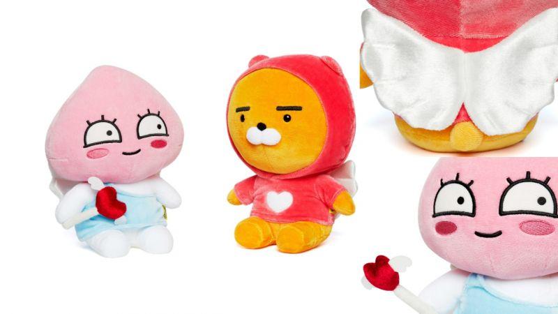 「Kakao Friends」又推出烧钱新品!情人节限定款,有著天使翅膀的Ryan和Apeach!
