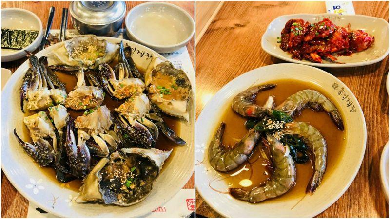 【弘大美食】酱油螃蟹、酱油生虾无限量任你续点,还有用量丰富的花蟹辣汤!