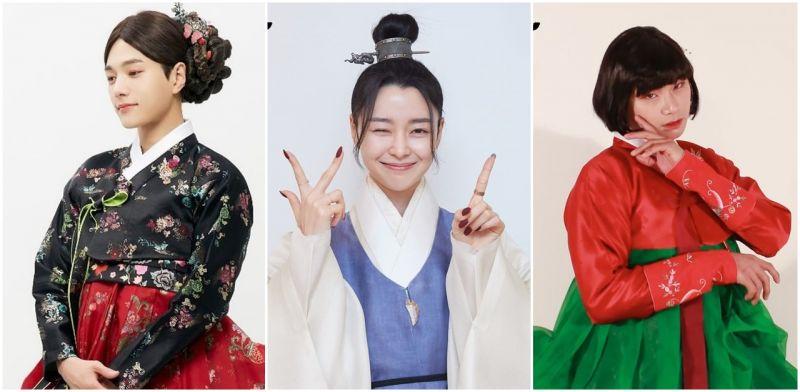 这么美的朝鲜姑娘!金明洙、权娜拉、李伊庚《暗行御史》男女换装履行收视公约认证照!