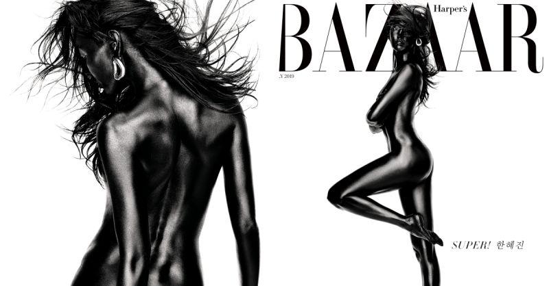超帥氣!韓惠珍全身塗黑拍裸體寫真:健美曲線令人過目難忘