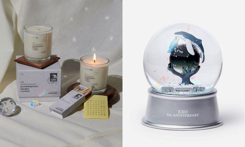 美翻!EXO出道8週年紀念周邊大公開,鯨魚蝴蝶水晶球太令人心動