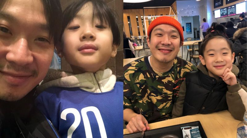 HAHA與大兒子Dream合照公開!引發討論...網友表示:「強大的基因,真的一模一樣!」