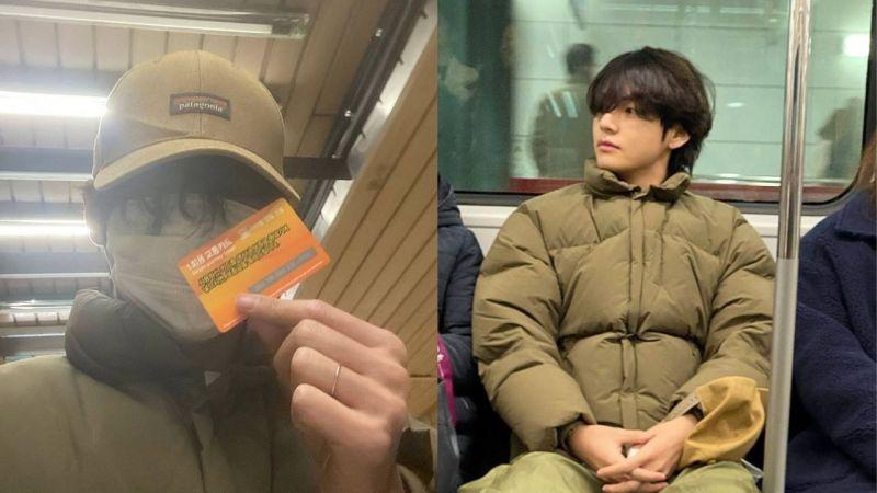 体验平凡的日常生活!BTS防弹少年团V摘下口罩搭地铁,照片一公开...也在网路上引发讨论!
