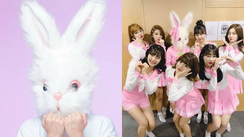 新人女團Pink Fantasy搞神秘主義,拿到Billboard第一才摘「兔頭」!