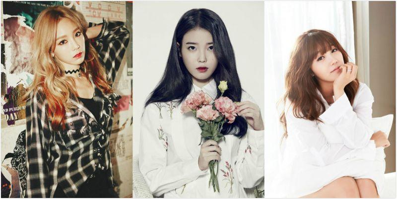 韩国歌谣界评选出的三大20代女歌手:太妍、IU、郑恩地!
