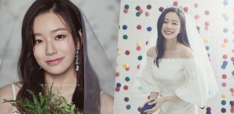 好美! 《SKY Castle》「車世麗」朴宥娜從前拍的婚紗寫真