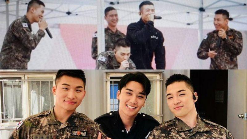 太陽、大聲、周元、高庚杓、Beenzino在軍隊帶來聯合演出!勝利今天(7日)也和哥哥們一起帶來表演