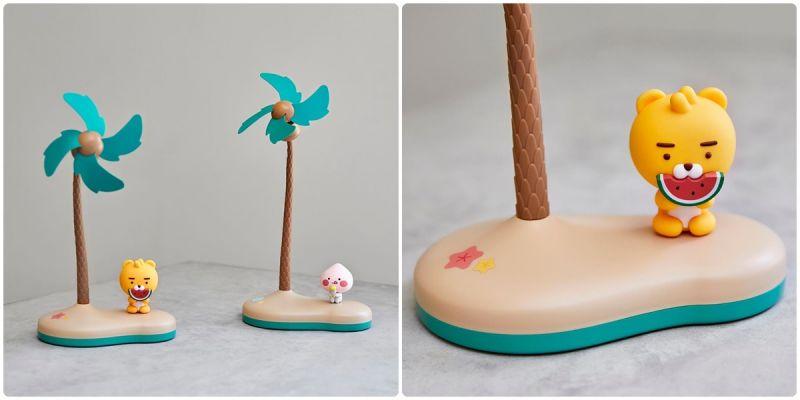 夏天必备!快把超疗育KAKAO FIRENDS 热带小岛风扇买起来!