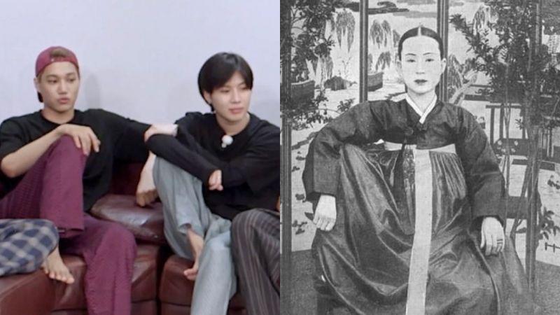 SuperM也不例外!网友发现韩国人偏爱的独特坐姿,从古到今没变过XD