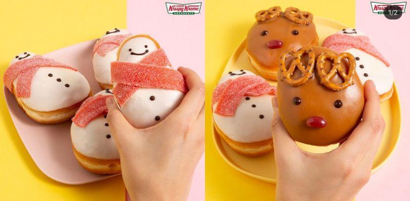 這個冬天遊韓必吃!韓國甜甜圈王牌Krispy Kreme聖誕系列甜甜圈~