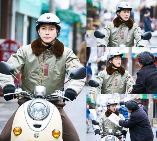 KBS新剧《金科长》公开南宫珉骑机车上班剧照 老土穿著也难掩帅气